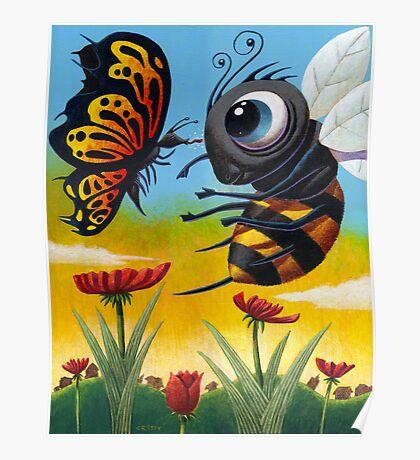 Bee-Zurk Butterfly Poster