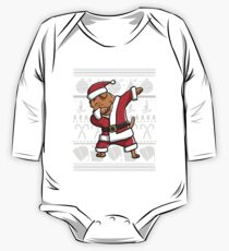 Dabbing Dogue De Bordeaux Ugly Christmas Sweater Graphic One Piece - Long Sleeve