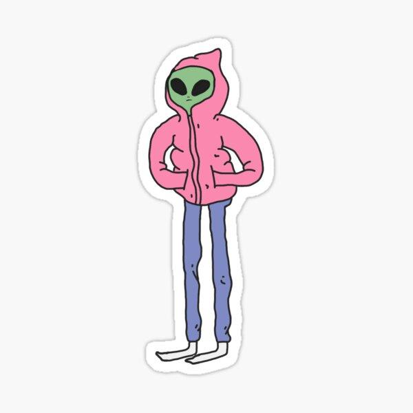 Alien-Typ Sticker