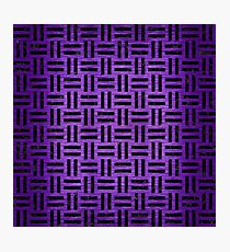 WOVEN1 BLACK MARBLE & PURPLE BRUSHED METAL Photographic Print