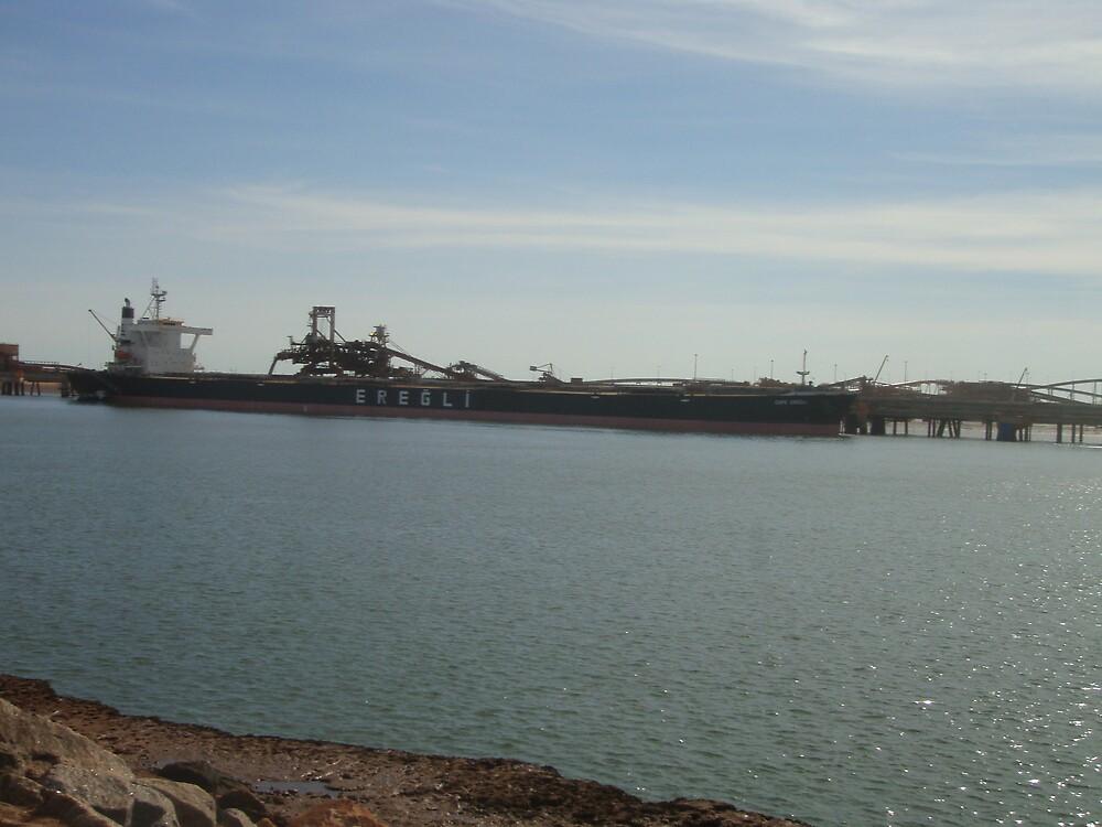 Boat Loading Port Hedland by salisburys