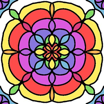 Rainbow Flower Tile by Dees-Designs