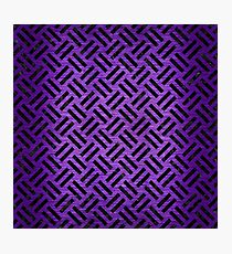 WOVEN2 BLACK MARBLE & PURPLE BRUSHED METAL Photographic Print