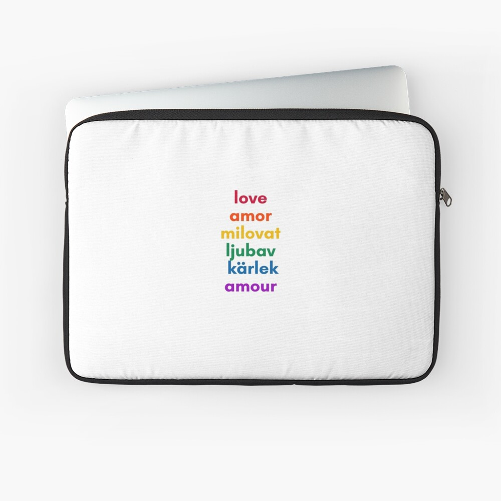 LOVE in 6 Languages Laptop Sleeve