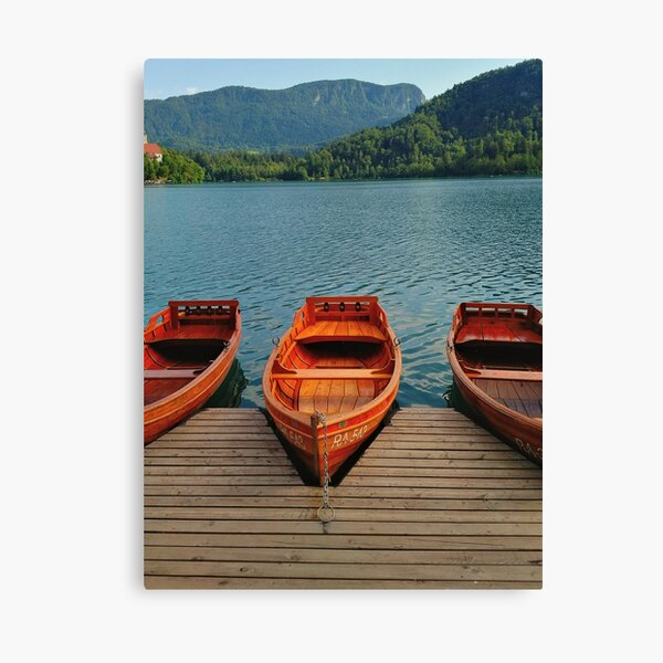 Lake Bled Boats Canvas Print