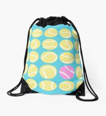 Pink tennis ball in the pack Drawstring Bag