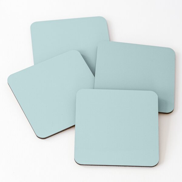Duck Egg Blue Solid Colour Coasters (Set of 4)