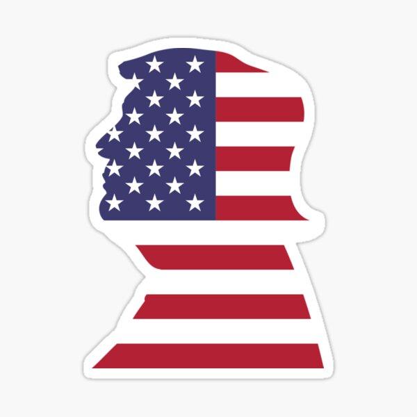 Trump Flag Face Sticker