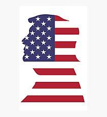 Trump Flag Face Photographic Print