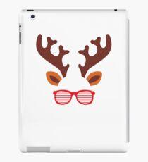 Reindeer Glasses Christmas Cute  iPad Case/Skin