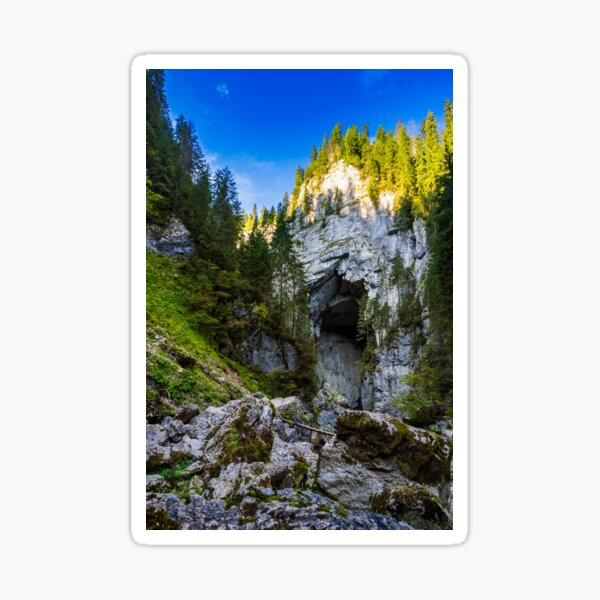 Cetatile cave sculpted by river in romanian mountains Sticker