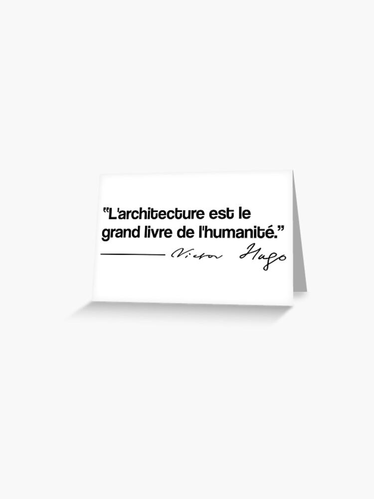 Citation Victor Hugo Architecture Carte De Vœux