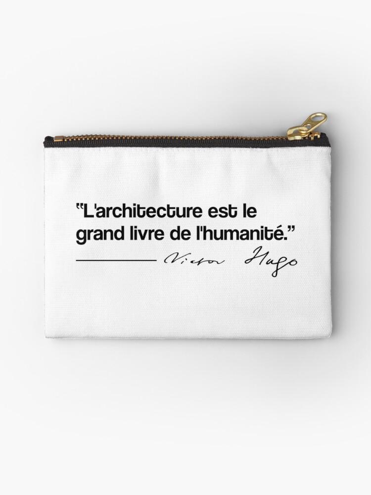 Pochette Citation Victor Hugo Architecture Par Opngoo