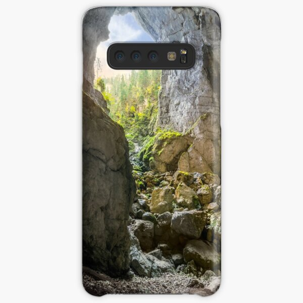 Cetatile cave sculpted by river in romanian mountains at sunrise Samsung Galaxy Snap Case