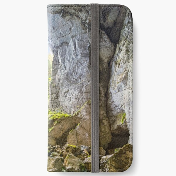 Cetatile cave sculpted by river in romanian mountains at sunrise iPhone Wallet
