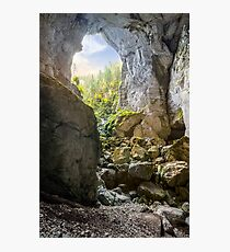 Cetatile cave sculpted by river in romanian mountains at sunrise Photographic Print