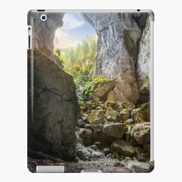 Cetatile cave sculpted by river in romanian mountains at sunrise iPad Snap Case