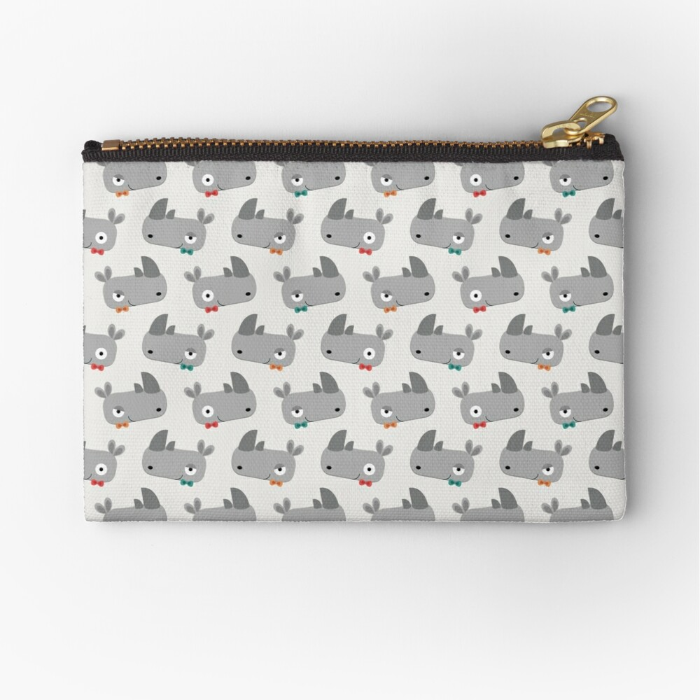 Rhinoceroses with bow ties Zipper Pouch