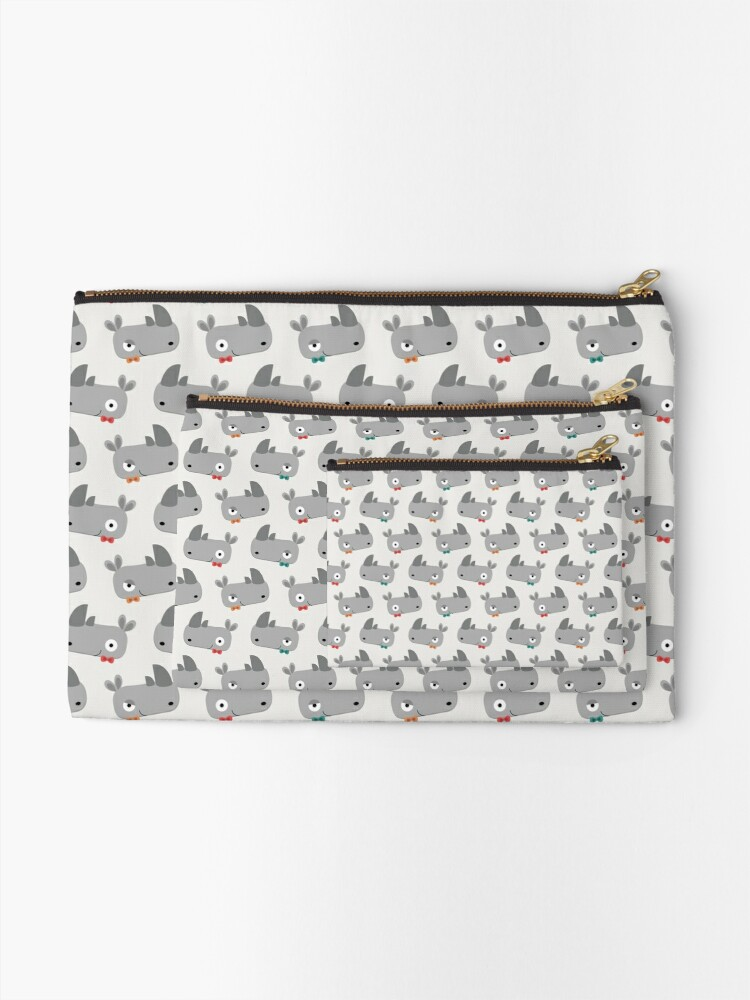 Alternate view of Rhinoceroses with bow ties Zipper Pouch