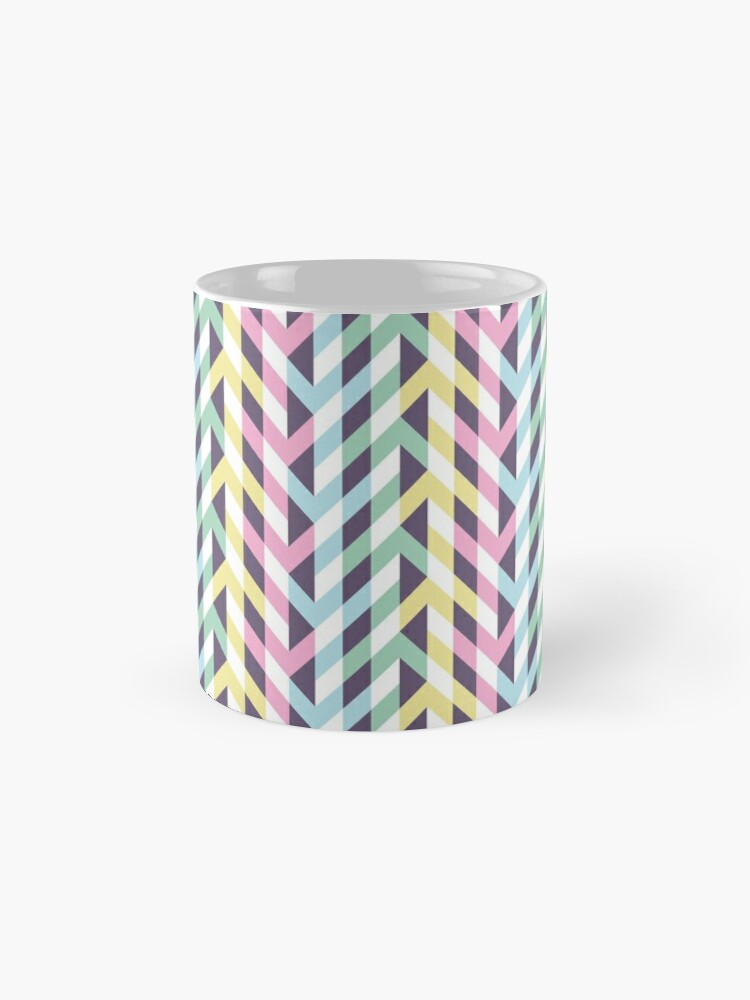 Alternate view of Pastel arrows of illusion Mug