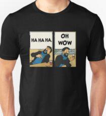 Tintin - Captain Haddock - Oh Wow Unisex T-Shirt