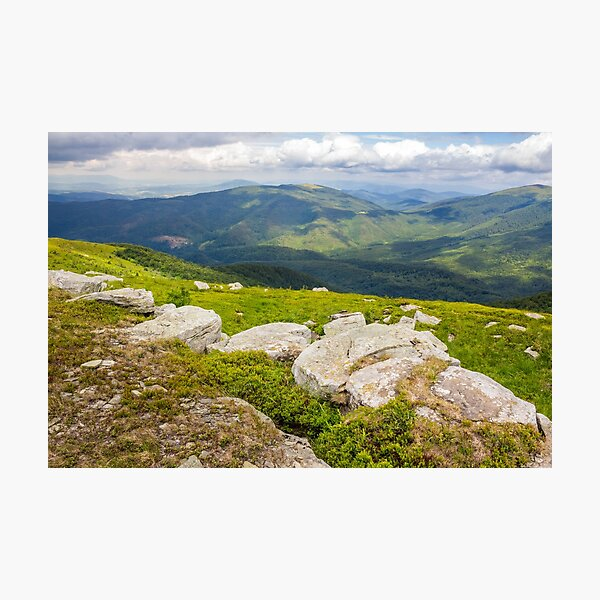 white boulders on the hillside Photographic Print