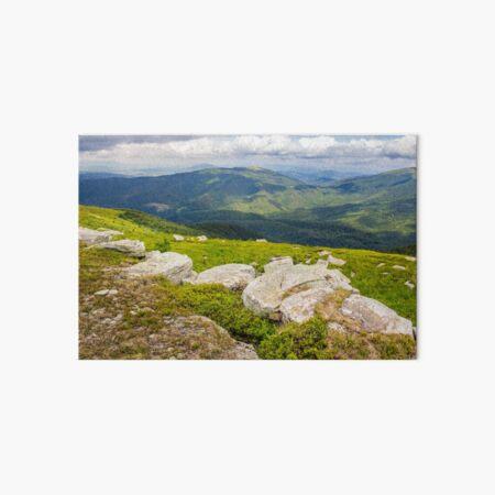 white boulders on the hillside Art Board Print