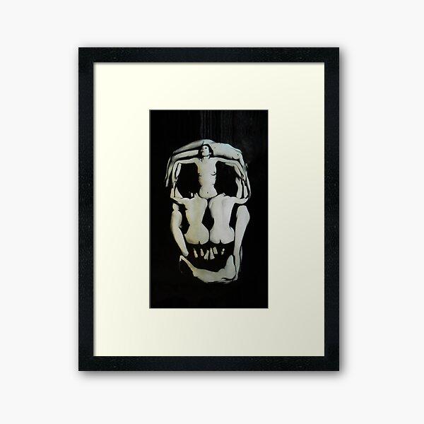 Salvador Dali Skull Darkened Framed Art Print