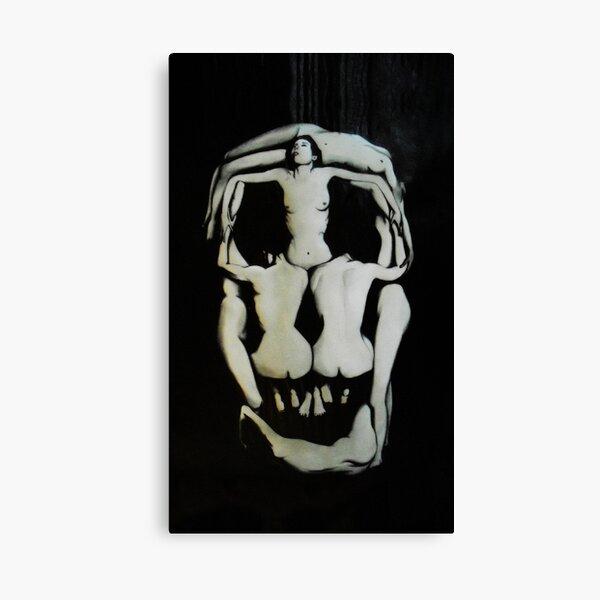 Salvador Dali Skull Darkened Canvas Print