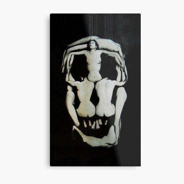 Salvador Dali Skull Darkened Metal Print