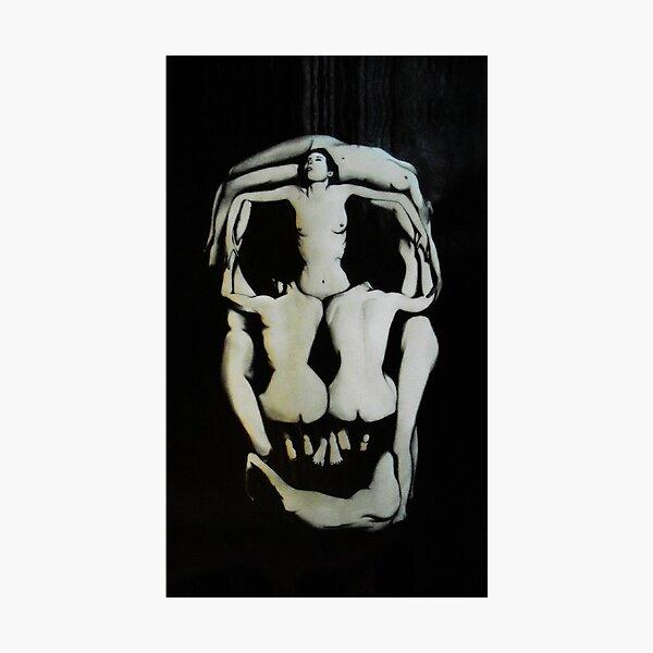 Salvador Dali Skull Darkened Photographic Print