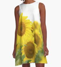 Elbkatz` sunflowers A-Line Dress