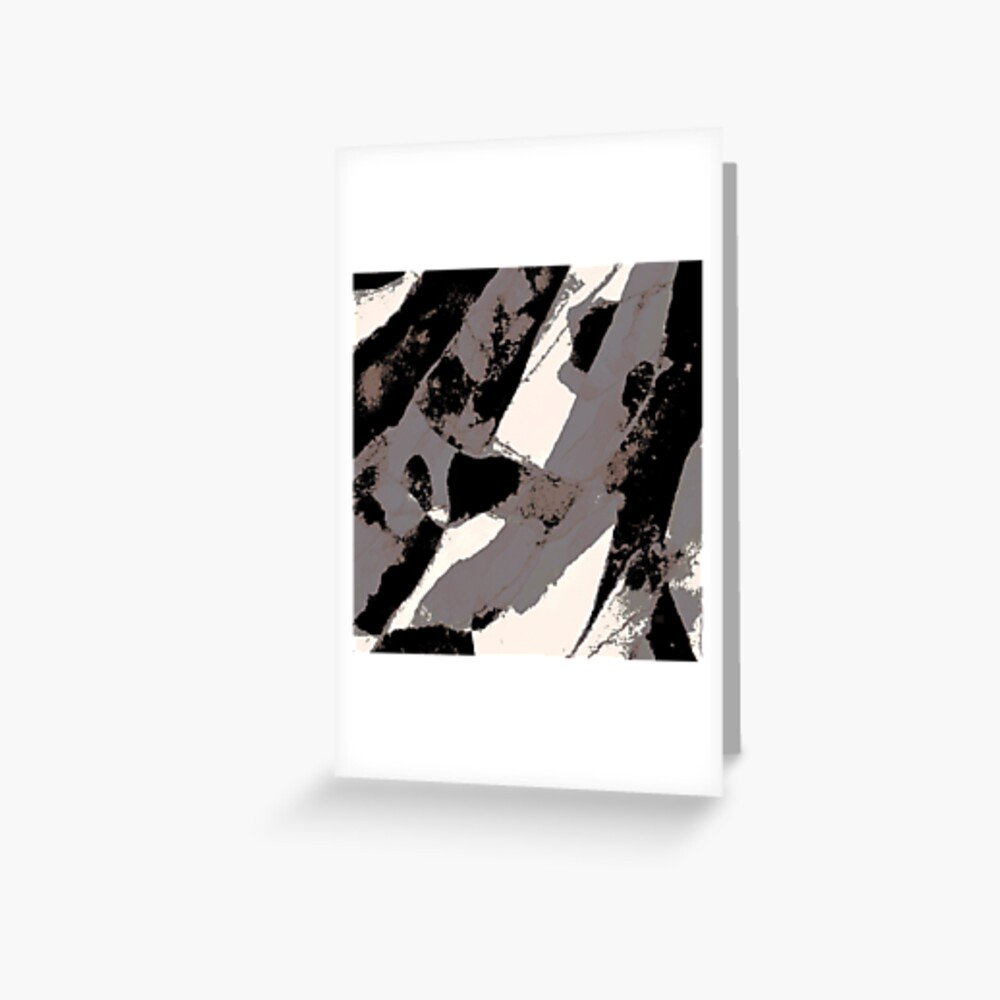 Organic No.1 Abstract #muted #redbubble #artprints #fineart Greeting Card
