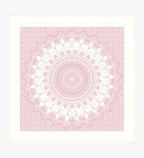 Lámina artística Boho Pink Mandala