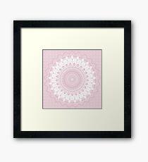 Boho Pink Mandala Framed Print