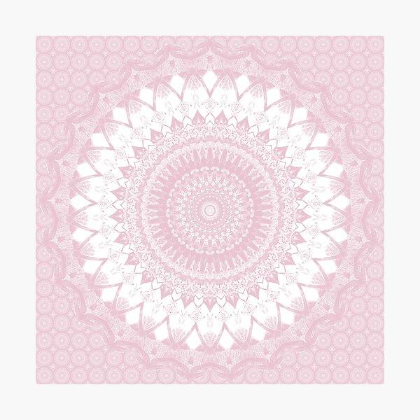 Boho Pink Mandala Photographic Print