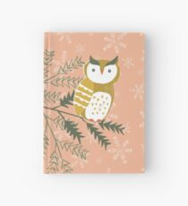 Winter Woodland Owl by Katy Bloss Hardcover Journal