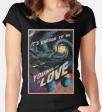 YOUNG AND IN LOVE Fitted Scoop T-Shirt