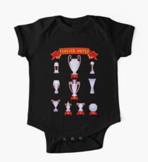 Manchester Forever United infographic palmares trophies Kids Clothes