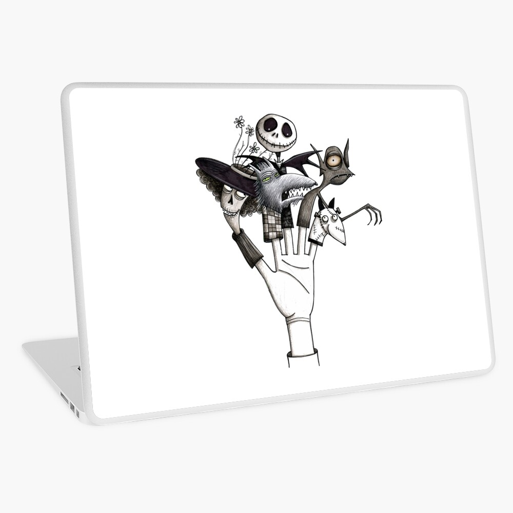 Tim Burton Tribute Nightmare Before Christmas Corpse Bride Frankenweenie Laptop Skin By Juniemond Redbubble