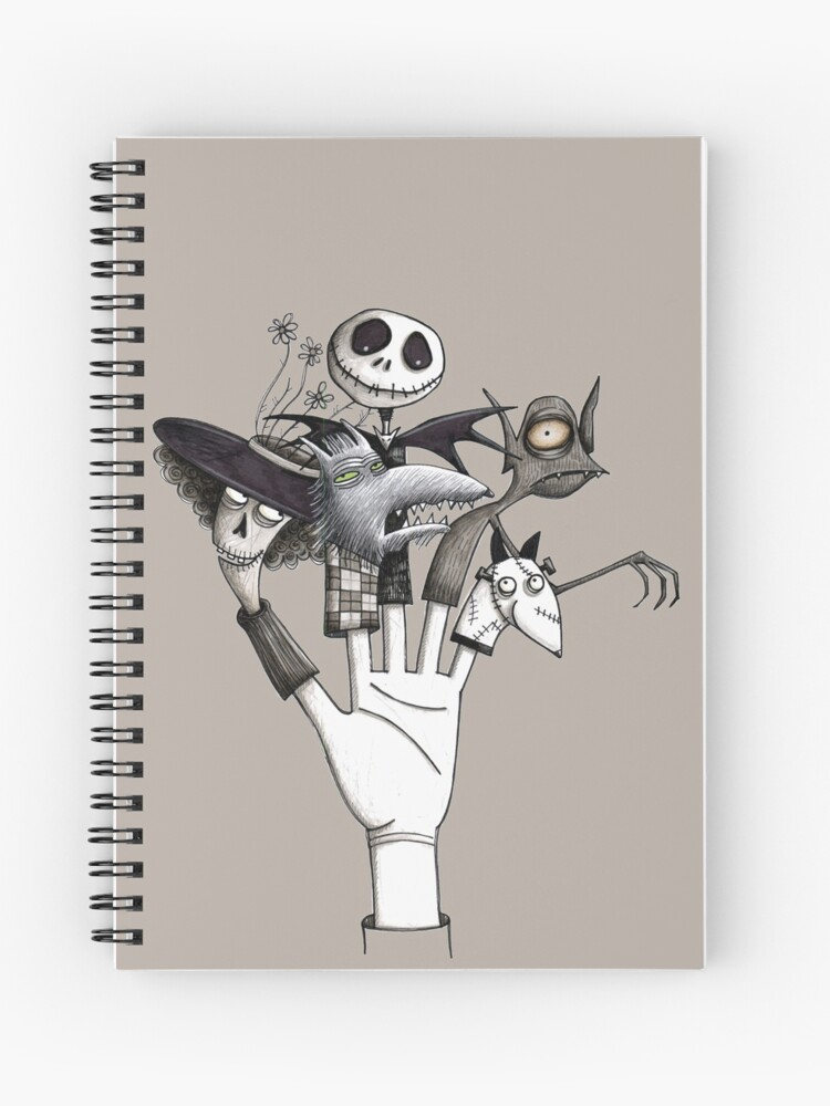 Tim Burton Tribute Nightmare Before Christmas Corpse Bride Frankenweenie Spiral Notebook By Juniemond Redbubble