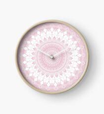 Boho Pink Mandala Clock
