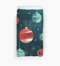 Joy to the Universe (Teal Version) Duvet Cover