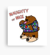 Ugly Sweater Bear - Blue Sweater Canvas Print