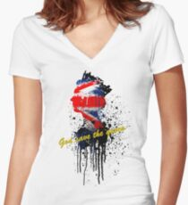 God save the Queen #2 Women's Fitted V-Neck T-Shirt