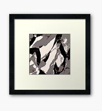 Organic No.3 Abstract #muted #redbubble #artprints #fineart Framed Print