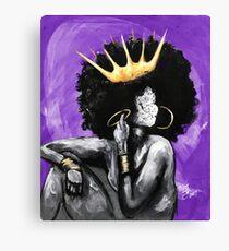 Naturally Queen PURPLE Canvas Print