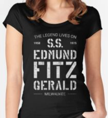 The Legend Lives On S.S. Edmund Fitzgerald Fitted Scoop T-Shirt