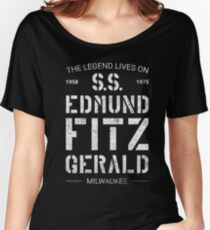 The Legend Lives On S.S. Edmund Fitzgerald Women's Relaxed Fit T-Shirt