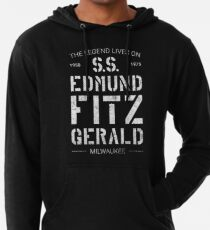 The Legend Lives On S.S. Edmund Fitzgerald Lightweight Hoodie